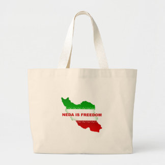 Neda is Freedom Large Tote Bag