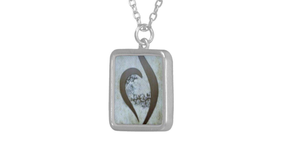 neda recovery symbol necklace custom zazzle