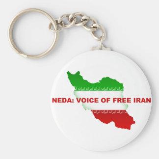 Neda - Voice of Free Iran Keychain