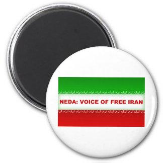 NEDA - Voz de Irán libre Imán Redondo 5 Cm