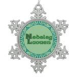 Nedeleg Laouen - Breton Christmas Snowflake Snowflake Pewter Christmas Ornament