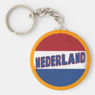 Nederland Basic Round Button Keychain