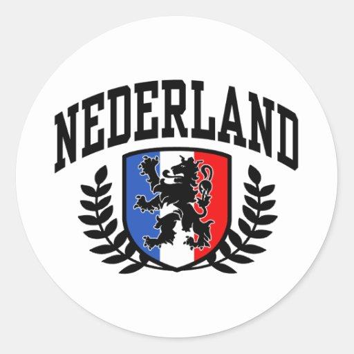 Nederland Classic Round Sticker