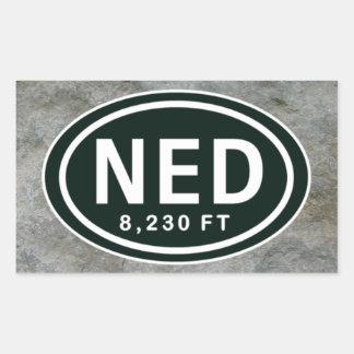 Nederland CO pegatinas de NED de la elevación de Pegatina Rectangular