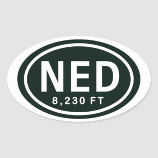 Nederland Colorado 8,230 FT NED Rocky Mountain Oval Sticker