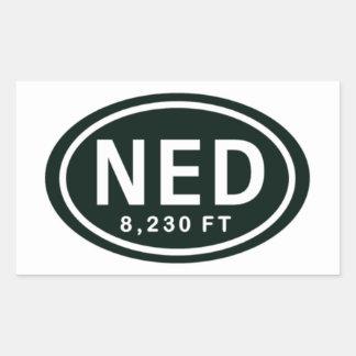 Nederland Colorado 8,230 FT NED Rocky Mountain Rectangular Sticker