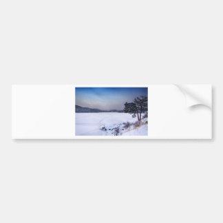 Nederland Colorado Barker Reservoir Winter Secnic Bumper Sticker