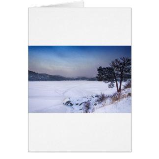 Nederland Colorado Barker Reservoir Winter Secnic Card
