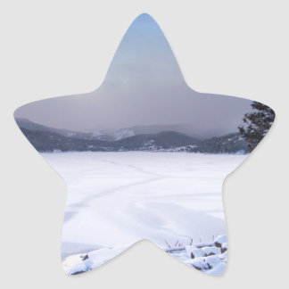 Nederland Colorado Barker Reservoir Winter Secnic Star Sticker