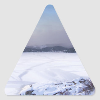 Nederland Colorado Barker Reservoir Winter Secnic Triangle Sticker