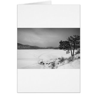 Nederland Colorado Barker Reservoir Winter View BW Card