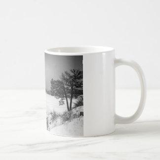 Nederland Colorado Barker Reservoir Winter View BW Coffee Mug