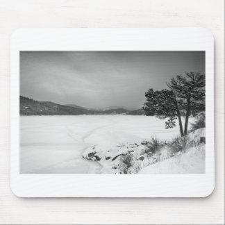 Nederland Colorado Barker Reservoir Winter View BW Mouse Pad