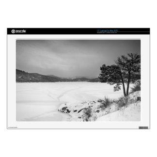 Nederland Colorado Barker Reservoir Winter View BW Laptop Decal