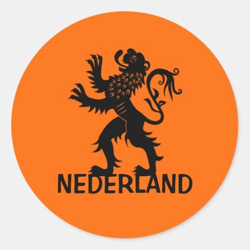 Nederland Lion Classic Round Sticker