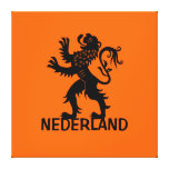Nederland Lion Gallery Wrapped Canvas