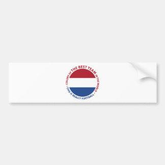 Nederland Netherlands Art Shield Bumper Sticker