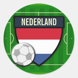 Nederland Netherlands Soccer Round Stickers