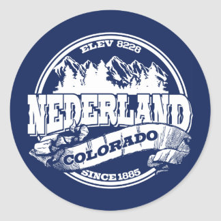 Nederland Old Circle Blue Stickers