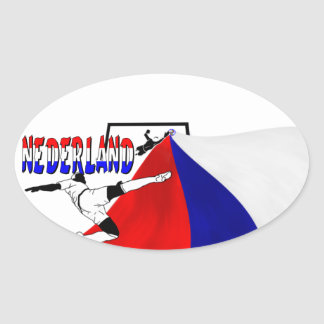 Nederland Oval Sticker