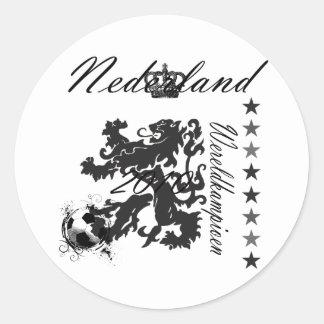 Nederland Wereldkampioen leeuw 2010 Stickers