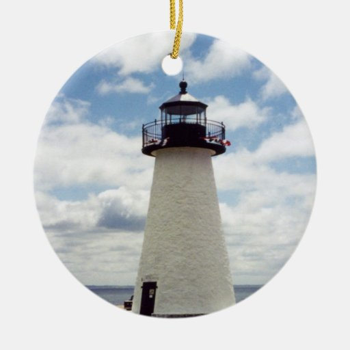Ned's Point Lighthouse Mattapoisett Christmas Tree Ornaments