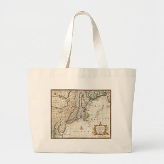 Nee England Ancient Map 1747 Tote Bag