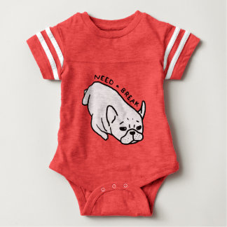 Need a break, the cute Frenchie wants a nap Baby Bodysuit