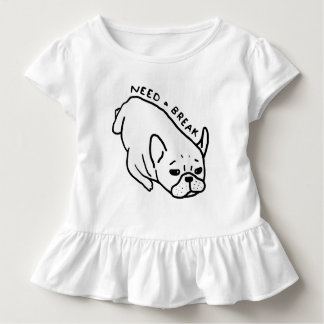 Need a break, the cute Frenchie wants a nap Toddler T-shirt