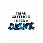 Need a Drink - Author Post Card