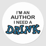 Need a Drink - Author Sticker