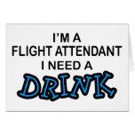 Need a Drink - Flight Attendant Cards