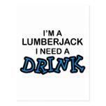 Need a Drink - Lumberjack Postcard