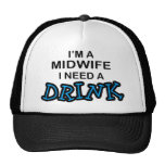 Need a Drink - Midwife Hats