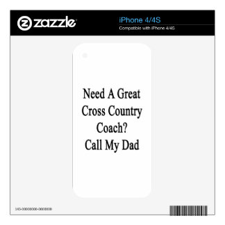 Need A Great Cross Country Coach Call My Dad Decals For The iPhone 4