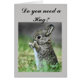 Need a Hug Bunny Card