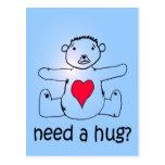 Need a hug? postcards