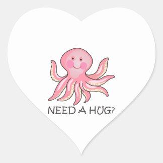 NEED A HUG HEART STICKERS