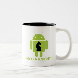 Need A Knight? (Software Developer Humor) Two-Tone Coffee Mug