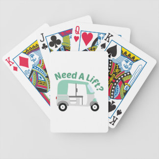 Need A Lift? Bicycle Playing Cards