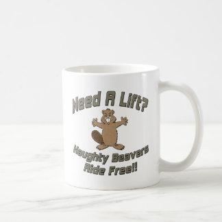 Need A Lift Naughty Beavers Ride Free Coffee Mugs