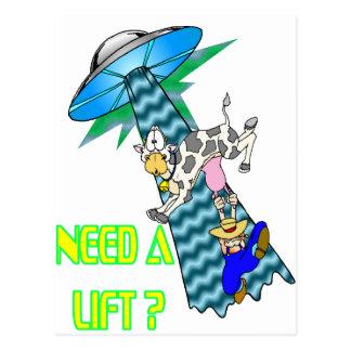 Need a Lift? Postcard