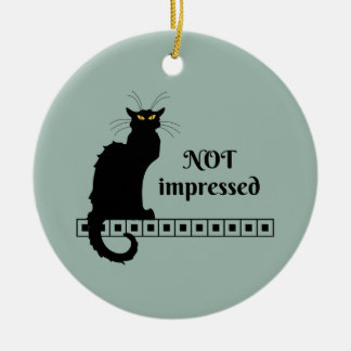 Need a little cattitude, anyone? ceramic ornament