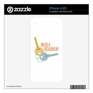 Need A Locksmith? iPhone 4 Skin