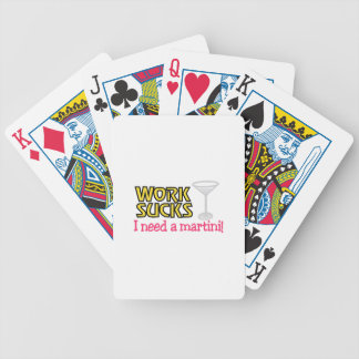 Need a Martini Bicycle Playing Cards