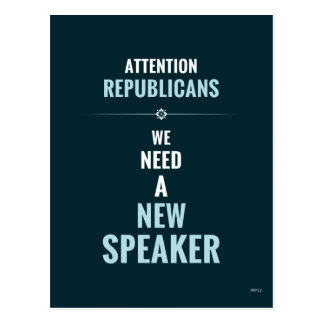 Need A New Speaker Postcard