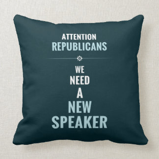 Need A New Speaker Throw Pillow