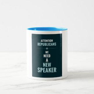 Need A New Speaker Two-Tone Coffee Mug