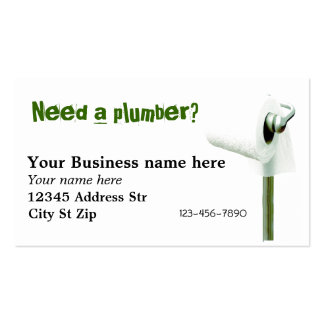Need a plumber? Business cards