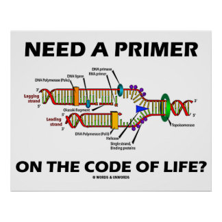 Need A Primer On The Code Of Life? (DNA Humor) Print